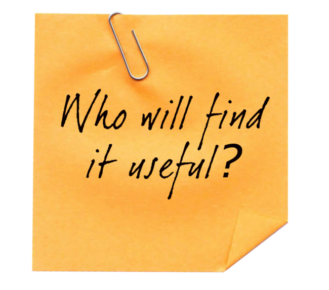 Who will find it useful? - Just Plain Agile
