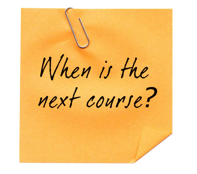 When is the next course? - Just Plain Agile