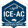 Badge for ICE-AC Agile Coaching Certification from ICAgile